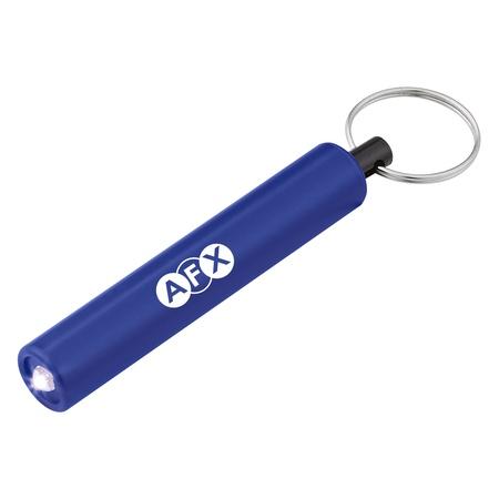 Custom Mini Cylinder LED Flashlight Key Tags