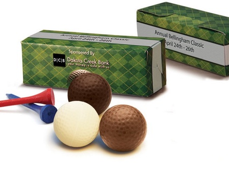Custom Packaged Chocolate Golf Balls