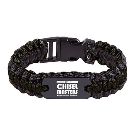 Custom Paracord Bracelet With Metal Plate