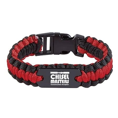 Custom Paracord Bracelet With Metal Plate