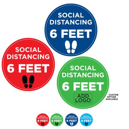 "Custom Printed Social Distancing Floor Decals - Round 12"""
