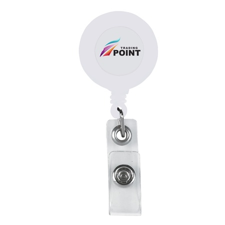 Custom Retractable Badge Holder with Laminated Label