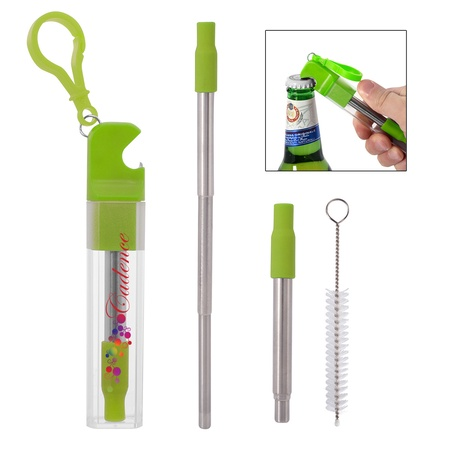 Custom Straw Kit with Bottle Opener