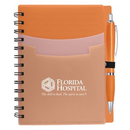 Custom Tri-Pocket Notebook & Satin Pen