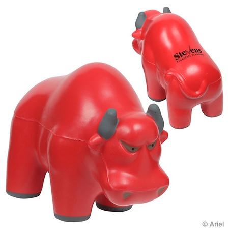 Custom Wall Street Bull Stress Balls
