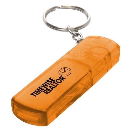 Custom Whistle, Light & Compass Key Chains