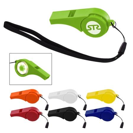 Custom Safety Light-Up Whistles