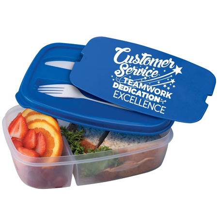 Customer Service 2-Section Meal Container