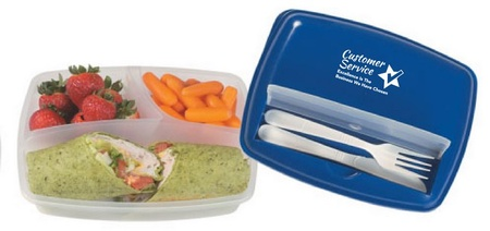 Customer Service 3 Section Lunch Container
