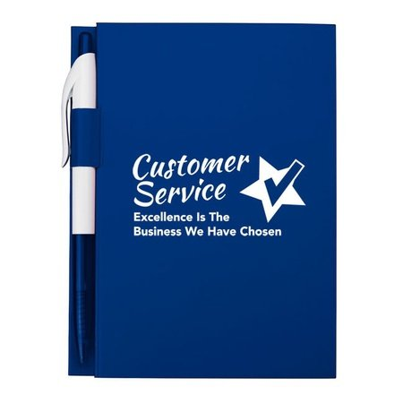 Customer Service Notebook with Pen