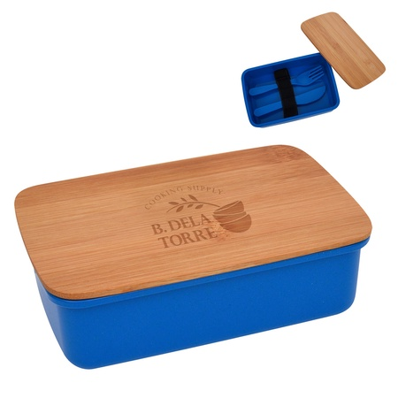 Customized Wheat Lunch Set with Bamboo Lid