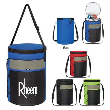 Cylindrical Insulated Custom Cooler Bags
