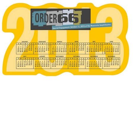 Die Cut Calendar Magnet