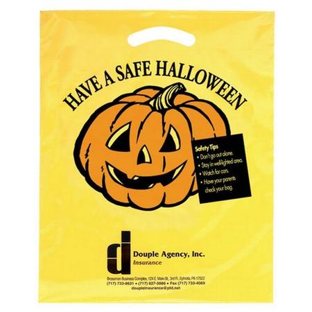 """Die-Cut Plastic Halloween Bag - 12"""" x 15"""""""