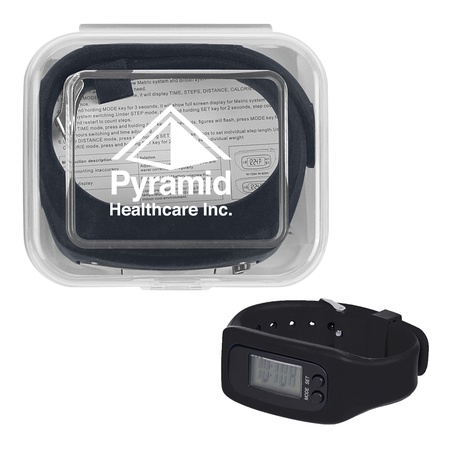 Digital LCD Pedometer Watch & Case