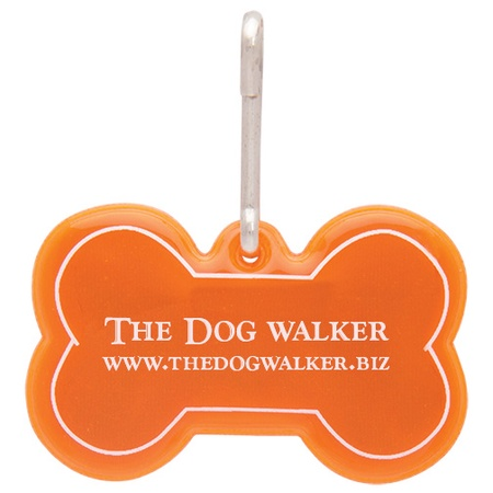 Dog Bone Reflective Collar Tag