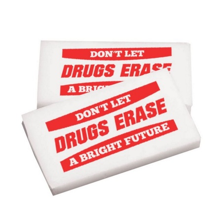 Don't Let Drugs Erase A Bright Future Erasers