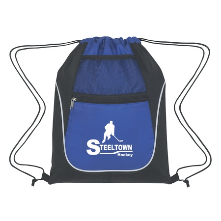 Custom Drawstring Sports Packs with Dual Pockets