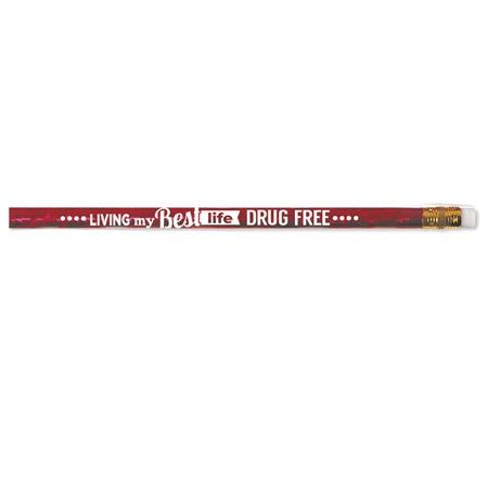 Drug Free Foil Message Pencil Assortment