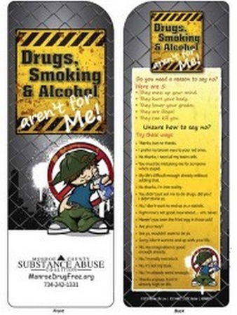 Drugs, Smoking & Alcohol Aren't for Me! Bookmark