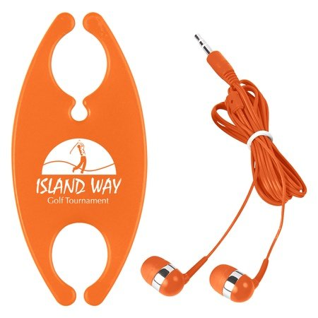Ear Buds with Cord Organizer