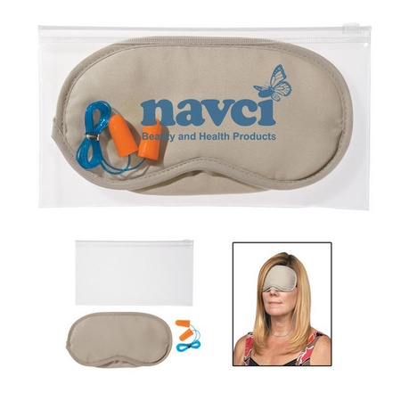 Personalized Ear Plug & Eye Mask Set