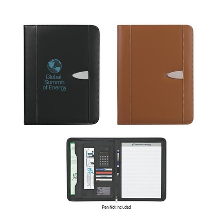 "Eclipse Bonded Leather Portfolio with Calculator - 8-1/2"" x 11"""