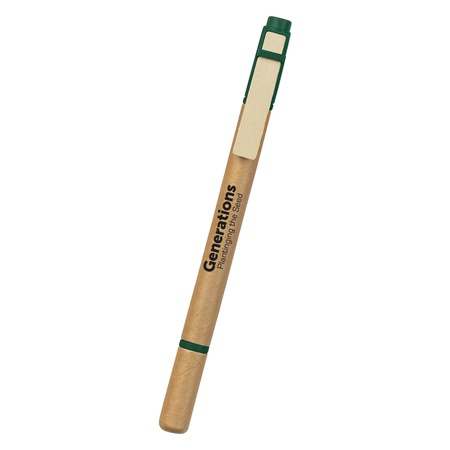 Eco-Friendly Dual Function Logo Pen/Highlighter