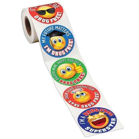 Emoji Drug Prevention Stickers