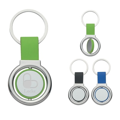 Engraved Round Metal Spinner Key Tags