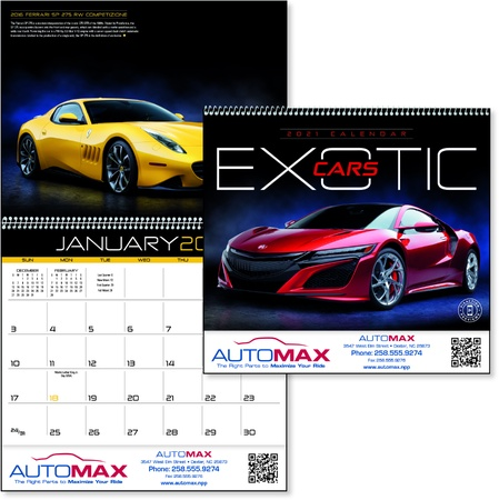 Personalized Exotic Cars Calendars - 2021