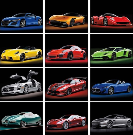 Exotic Cars Calendar - 2019