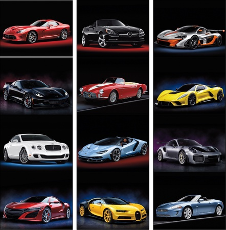 Exotic Sports Cars 2022 Promotional Wall Calendars