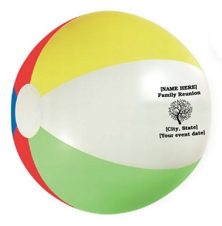 Family Reunion Personalized Beach Balls