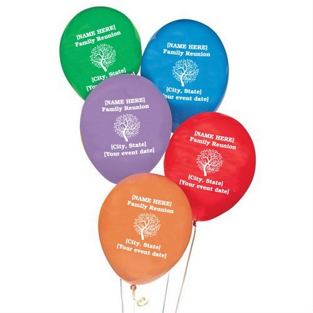Family Reunion Personalized Balloons