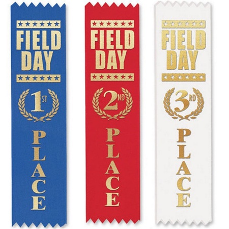 Field Day Award Ribbons - 105-Piece Assortment Pack