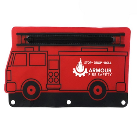 Personalized Fire Engine School Pouch