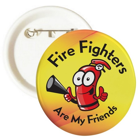 Fire Fighters Are My Friends Hydrant Buttons