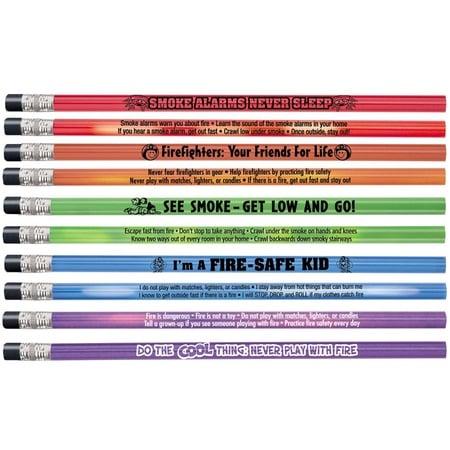 Fire Safety Assorted Colors Heat Sensitive Pencils