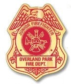 Fire Safety Foil Badge Stickers