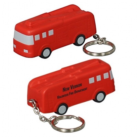 Fire Truck Stress Ball Key Chain