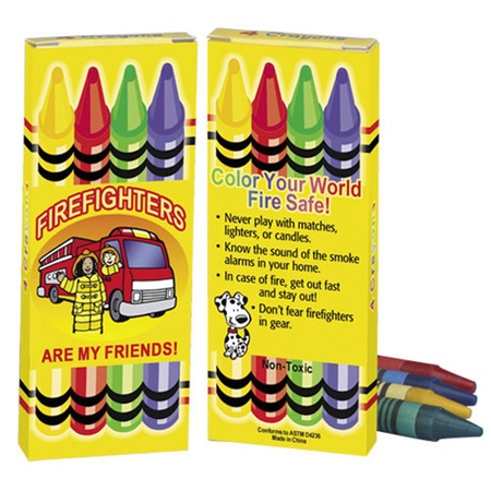 Firefighters Are My Friends Crayon Set