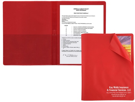 Flexible Cover Presentation Folder with Imprint