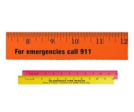 """Custom 12"""" Fluorescent Wood Rulers"""