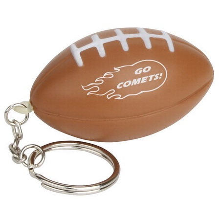 Football Stress Ball Logo Key Chains