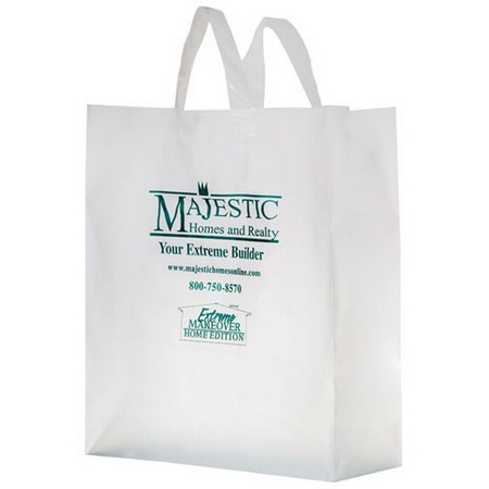 """Frosted Die-Cut 16"""" x 6"""" x 18"""" Imprinted Bags"""