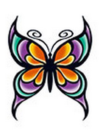 Glitter Butterfly Temporary Tattoo
