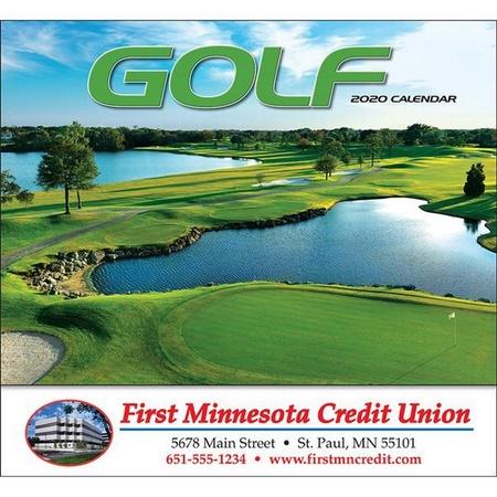 Golf Wall Calendar - 2020