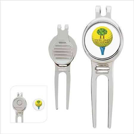 Golfer's Custom Divot Tool with Ball Marker