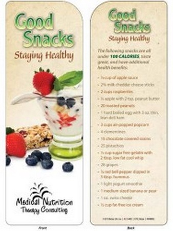 Good Snacks Staying Healthy Bookmark